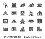 property icon set. included... | Shutterstock .eps vector #1123784123