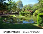 a park in the city of anduze ...   Shutterstock . vector #1123791020