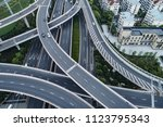 aerial view of highway and...   Shutterstock . vector #1123795343