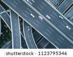 aerial view of highway and... | Shutterstock . vector #1123795346