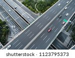 aerial view of highway and...   Shutterstock . vector #1123795373