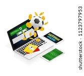 isometric football betting... | Shutterstock .eps vector #1123797953