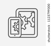 mobile seo icon line symbol....