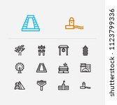 travel icons set  england ... | Shutterstock . vector #1123799336