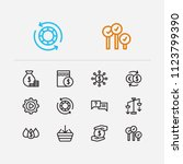 finance icons set. yield and...
