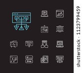 optimization icons set. social... | Shutterstock .eps vector #1123799459