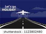 landscape view of runway in the ... | Shutterstock .eps vector #1123802480