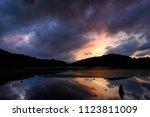 landscape of dusk at mountain... | Shutterstock . vector #1123811009