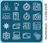 technology related set of 16... | Shutterstock .eps vector #1123812008