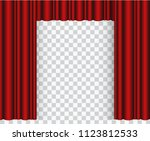red stage curtain realistic... | Shutterstock .eps vector #1123812533