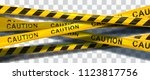 vector background of caution... | Shutterstock .eps vector #1123817756