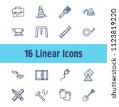 construction icon set and work...