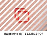 red clone icon on the gray... | Shutterstock . vector #1123819409