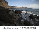 black sand reynisfjara beach in ... | Shutterstock . vector #1123832210