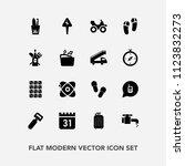 modern  simple vector icon set... | Shutterstock .eps vector #1123832273