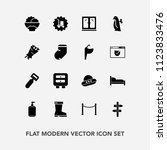 modern  simple vector icon set... | Shutterstock .eps vector #1123833476