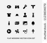 modern  simple vector icon set... | Shutterstock .eps vector #1123834070