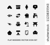 modern  simple vector icon set... | Shutterstock .eps vector #1123835543