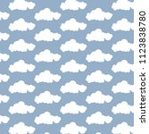 simple cloud pattern background | Shutterstock .eps vector #1123838780