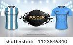football cup 2018 world... | Shutterstock .eps vector #1123846340
