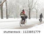 A Woman Biking In The Amsterdam ...
