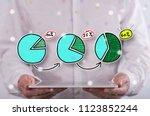 market share increase concept... | Shutterstock . vector #1123852244