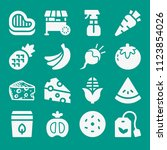 food related set of 16 icons...   Shutterstock .eps vector #1123854026
