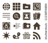interface related set of 16...   Shutterstock .eps vector #1123854884