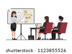 office lady character | Shutterstock .eps vector #1123855526