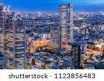 night view of tokyo seen from... | Shutterstock . vector #1123856483