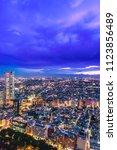 night view of tokyo seen from... | Shutterstock . vector #1123856489