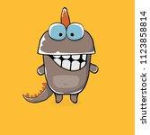 vector funny cartoon cute brown ...   Shutterstock .eps vector #1123858814