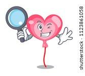 detective ballon heart... | Shutterstock .eps vector #1123861058