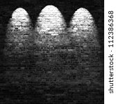 dark brick wall background in... | Shutterstock . vector #112386368