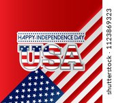 fourth of july independence day ...   Shutterstock .eps vector #1123869323