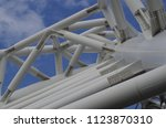 steel structure of a viaduct | Shutterstock . vector #1123870310