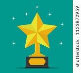 golden star award.flat star... | Shutterstock .eps vector #1123872959