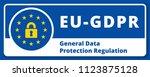 eu gdpr label illustration | Shutterstock .eps vector #1123875128