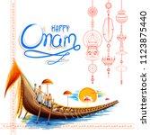 illustration of snakeboat race... | Shutterstock .eps vector #1123875440