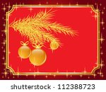 christmas and new year... | Shutterstock . vector #112388723