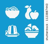 food related set of 4 icons... | Shutterstock .eps vector #1123887443