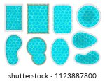 vector set. swimming pools of... | Shutterstock .eps vector #1123887800