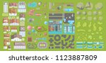 set of landscape elements.... | Shutterstock .eps vector #1123887809