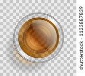 vector illustration. a glass... | Shutterstock .eps vector #1123887839