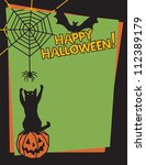 halloween design of a playful... | Shutterstock . vector #112389179
