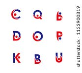 alphabet letters set with... | Shutterstock .eps vector #1123900319