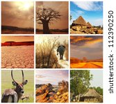 african landscapes collages | Shutterstock . vector #112390250