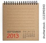 2013 Calendar Brown Texture...
