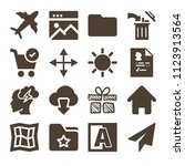 interface related set of 16...   Shutterstock .eps vector #1123913564