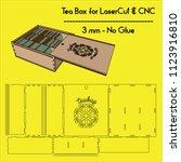 tea bag box ... laser cutting...... | Shutterstock .eps vector #1123916810
